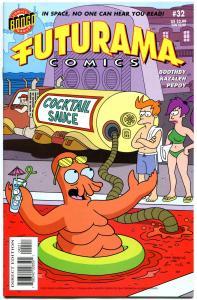 FUTURAMA #32, NM-, Bongo, Fry, Bender, Leela, 2000,Professor Farnsworth,Zoidberg