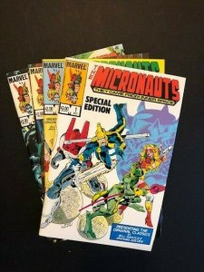 LOT of 4- Marvel THE MICRONAUTS SPECIAL EDITION #1-#4 Very Fine+ (A177)