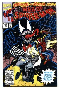 Web of Spider-Man #95 Venom cover-Ghost Rider-comic book