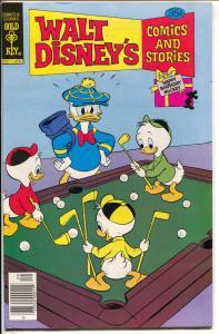 Walt Disney Comics & Stories #456 1978-Donald Duck-golf-pool table-VF