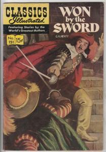 Classic Comics #151 (Jul-59) FN- Mid-Grade Won by the Sword