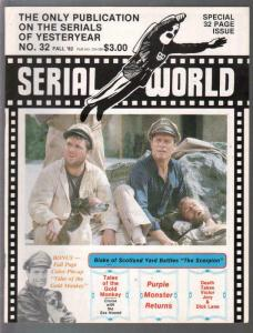 Serial World #32 1982-Kretzer-Purple Monster-Blake of Scotland Yard-FN