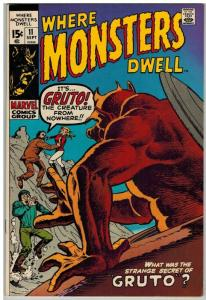 WHERE MONSTERS DWELL 11 F-VF Sept. 1971