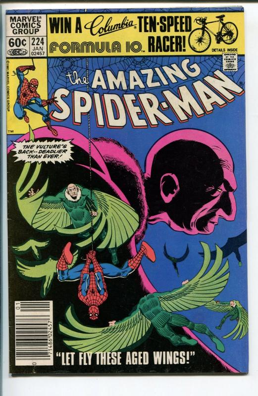 AMAZING SPIDER-MAN #224 1981-MARVEL-THE VULTURE-fn