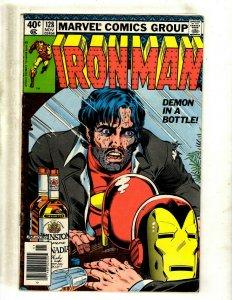 Iron Man # 128 FN Marvel Comic Book Avengers Hulk Thor Captain America J462