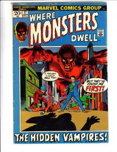 Where Monsters Dwell #17 (Sep-72) FN Mid-Grade Droom the Living Lizard