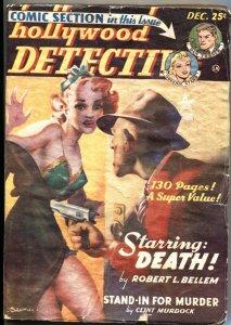 HOLLYWOOD DETECTIVE-12/1949-COMIC & PULP STORIES-DAN TURNER-CRIME