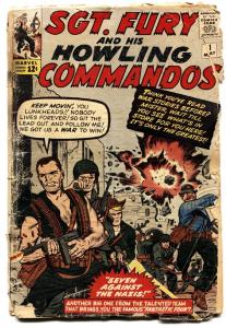 SGT. FURY AND HIS HOWLING COMMANDOS #1 comic book1963-Marvel Silver-Age Key