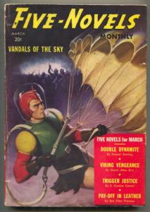 Five Novels Pulp March 1940- VANDALS OF THE SKY- Parachute cover