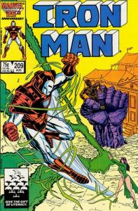 Iron Man (1st Series) #209 VF/NM; Marvel | save on shipping - details inside