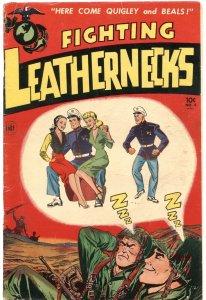 FIGHTING LEATHERNECKS #4-1952-PIN UP GIRL ART-BONDAGE-TORTURE-WAR