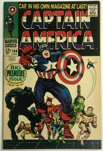 CAPTAIN AMERICA#100 VF- 1968 JACK KIRBY MARVEL SILVER AGE COMICS