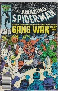 Amazing Spider-Man #284 - Newsstand Edition - January 1987 - Gang War