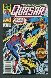 Quasar #7 (Marvel)  / 8.5 VFN+  Newsstand  February 1990
