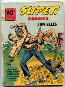Super Comics #28 1940- Jim Ellis cover- Dick Tracy G+