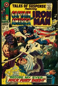TALES OF SUSPENSE #92-IRON MAN/CAPTAIN AMERICA VG