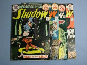 The Shadow (DC Comics 1974) Issues #6 #7 #8 #10 Rare Classic Bronze Age L@@K!!