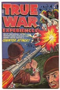 True War Experiences #1 1952-KOREAN WAR Golden Age VF-