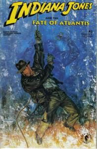 Indiana Jones and the Fate of Atlantis #2 (with card) VF/NM; Dark Horse | save o