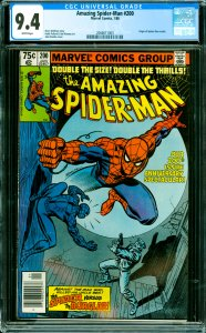 Amazing Spider-Man #200 CGC Graded 9.4 Origin of Spider-Man retold.