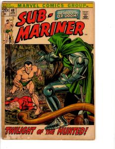 Lot Of 4 Prince Namor Sub-Mariner Marvel Comic Books # 48 49 50 51 VG Range RH2