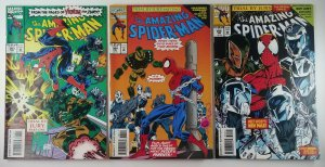 (3x) The Amazing Spider-Man: TRIAL BY JURY #383, #384, #385 Full Set Marvel 1994