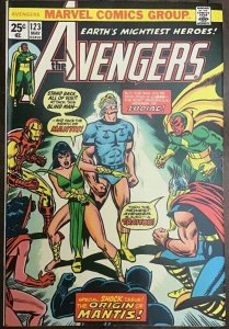 The Avengers #123. NM - dare I say! Free Shipping!