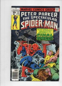 Peter Parker SPECTACULAR SPIDER-MAN #15 VF/NM Final Rage 1976 1978 more in store