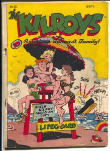 Kilroys #12 1948-ACG-lifeguard cover-Count Screwloose-Milt Gross-VG