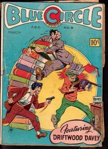 BLUE CIRLCE COMICS #5-LAST STEEL FIST-GREAT ISSUE G