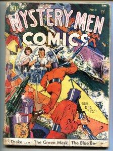 Mystery Men #6 1940-Fox-Blue Beetle-Green Mask-GEORGE TUSKA-comic book