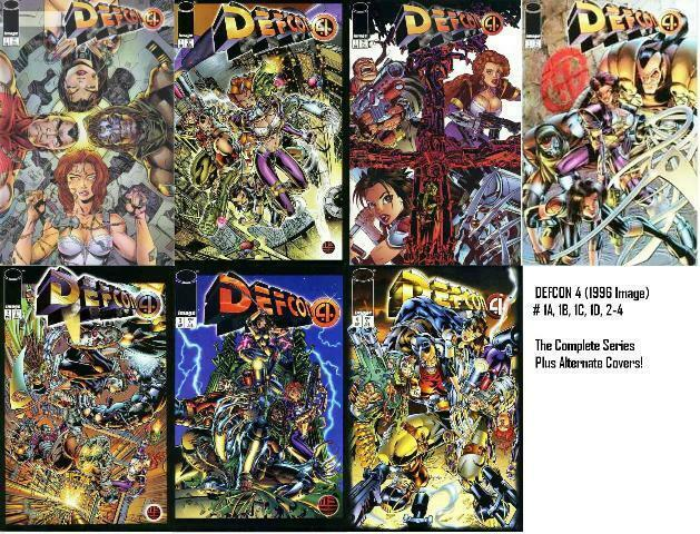 DEFCON 4 (1996 IM) 1A-1D,2-4  the COMPLETE series +++