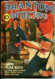 Phantom Detective 12/1942-Thrilling Pubs-hard boiled crime-hero pulp-P/FR