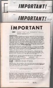 Rocket's Blast Comicollector Fanzine Coverless Bargain Lot of 3-1960's-P