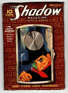 SHADOW 1936 January 1 -HIGH GRADE- STREET AND SMITH-RARE PULP FN