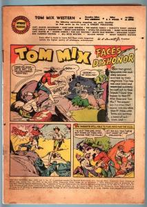 TOM MIX WESTERN COMICS #27-1950 MAR-FAWCETT WESTERN COMIC WITHOUT  COVERS! FR