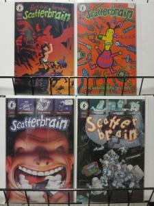 SCATTERBRAIN (1998 DH) 1-4  Mignola, Woodring, Aragones