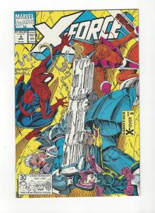 X-Force #4  Spiderman App NM