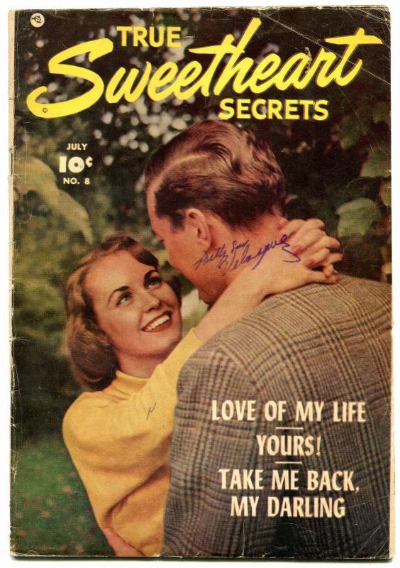 True Sweetheart Secrets #8 1952- Golden Age Romance- Photo cover VG