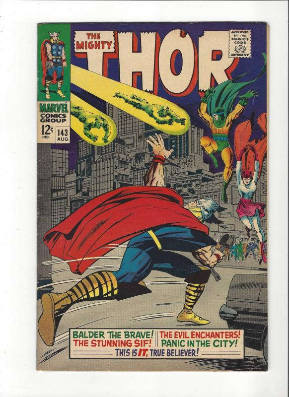 The Mighty Thor #143 (1st) VS. Lee/Kirby The Enchanters HI- Grade