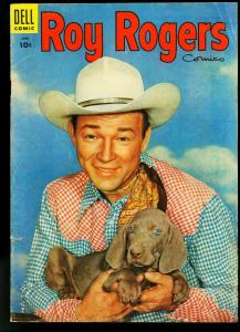 Roy Rogers #90 1955- Dell Western- Puppy photo cover- VG