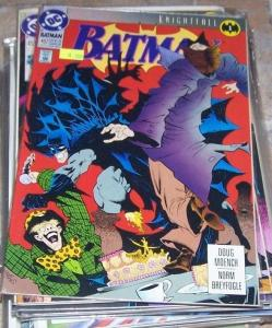 Batman #492 (May 1993, DC) knightfall pt 1 mad hatter  bane