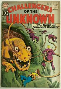 CHALLENGERS OF THE UNKNOWN#22 GD- 1961 DC SILVER AGE COMICS