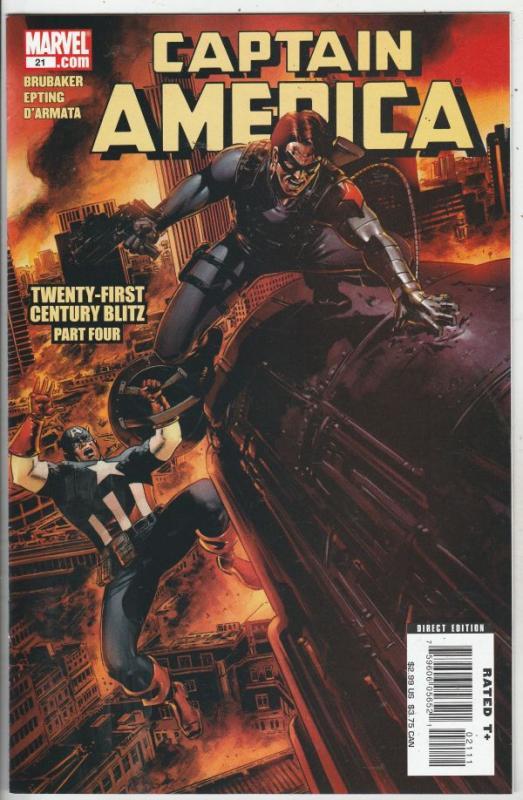 Captain America #21 (Sep-06) NM+ Super-High-Grade Captain America