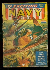 EXCITING NAVY PULP #3-SPRING 1939-WWII ANTI-JAPAN COVER G