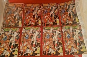 LOT OF 8 YOUNGBLOOD #0 IMAGE COMICS 4 GREEN AND 4 YELLOW TITLE 1992  VF NM