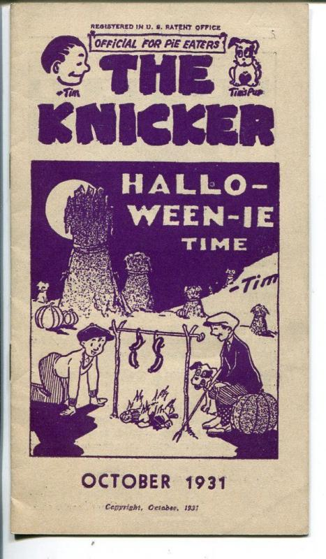 The Knicker 10/1931-pre comic book promo giveaway-Halloween-VG/FN