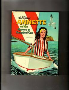 Walt Disney's Annette The Mystery At Smuggler's Cover Hardcover Book Whitman JL4