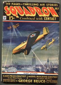 Squadron #1 July 1934 First issue pulp mag-Air War-George Bruce