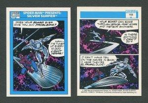 1990 Marvel Comics Card  #153 (Spiderman Presents: Silver Surfer) / NM-MT